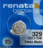 329/ SR731 Renata ezüst - oxid gombelem